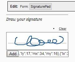 Digital Signature Custom Form Control by Moore Creative