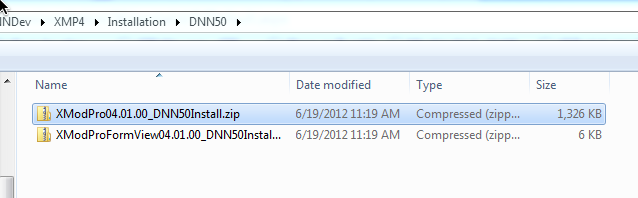 Select file in the Installation folder